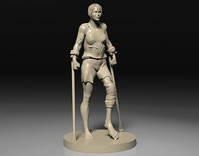 3D printable model Woman on crutches