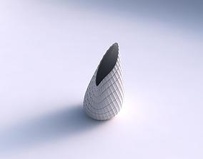 Vase Flame twisted with strange tiles 3D printable model