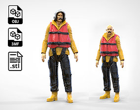 N2 Lifeboat Crew Volunteer RNLI Rescue 3D print model