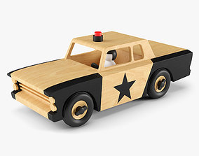 3D model Wooden Toy Police Car