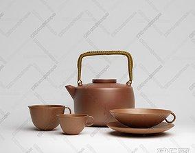 Purple Clay Teapot 3D