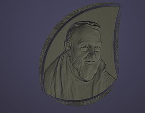 Father Pio in a blob with texture 3d printable model 3D