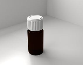 Glass Bottle 2 3D
