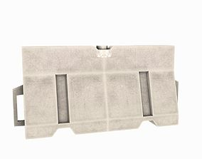 3D asset Barrier White