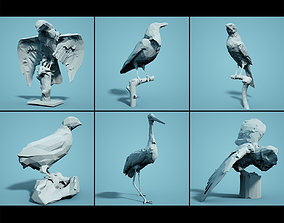game-ready Bird Collection V3 Low Poly Models