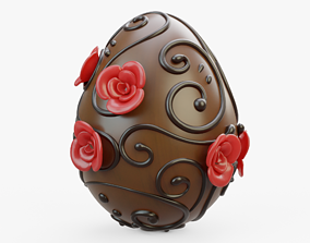 3D asset Decorated Chocolate Egg