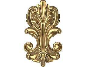 ornate antique decorative pattern ready for 3D printing