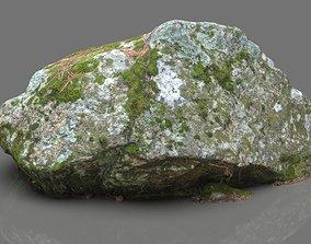3D asset MOSS ROCK 2