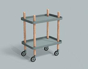 3D asset Trolley Home Cart PBR Game Ready