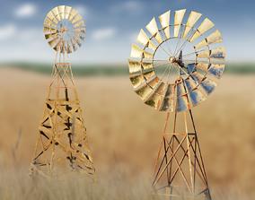 Wind generator 3D asset