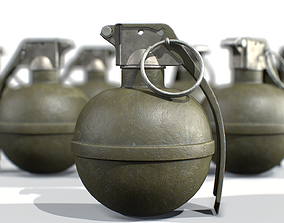 American Frag hand grenade M67 3D