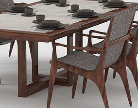 Black Mona Set Tableware 3D model
