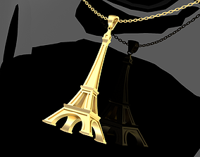 3D printable model Eiffel Tower Pendant jewelry Gold