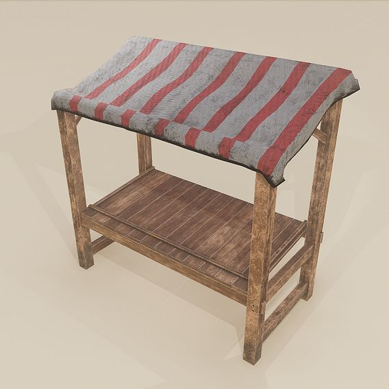 Medieval Merchant Stand