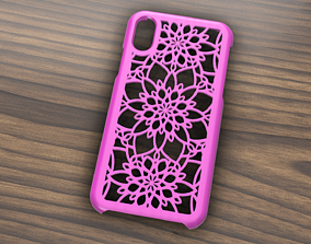 3D model CARCASA IPHONE X-XS FLOWERS