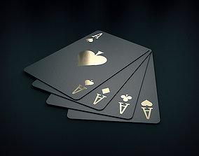 3D Black play card