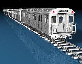 Subway train 3D
