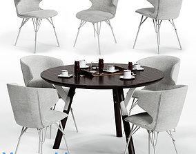 Varaschin KLOE Chair and LINK Table 3D asset