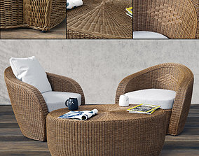 3D VARASCHIN Bolero Lounge Chair