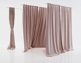 fbx Window curtains 3D model