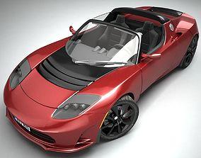 3D model Tesla Roadster future