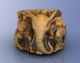 Elephant Ring Africa Savannah 3D printable model