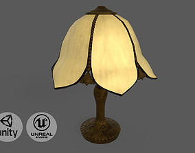 3D asset Vintage brass table lamp