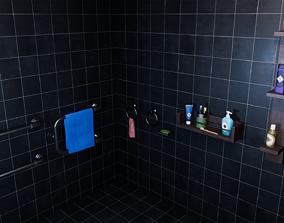 3D asset Bathroom accessories