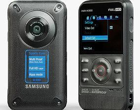 3D model Samsung HMX-W300 Black pocket camcorder