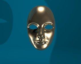 3D print model Woman face mask
