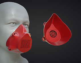 Mask 3D low-poly PBR