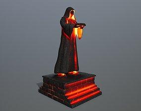 lava statue 3D model low-poly