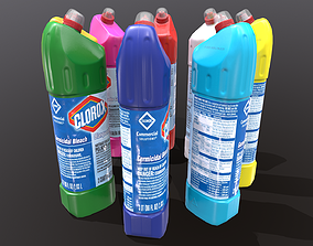 WC cleaner detergent - low poly model 3D asset