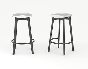 Japanese Bar stool 3D model