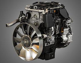 OM934 Medium Duty Engine - 4 Cylinder Diesel Engine 3D