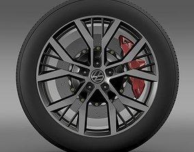 Volkswagen Golf GTI wheel 2 3D model