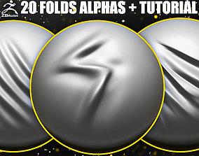 Folds Alphas for ZBrush 3D model