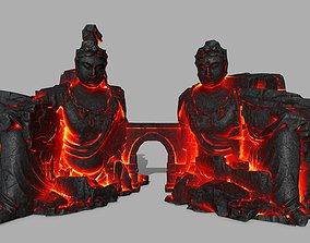 rocks buddha healgate 3D model