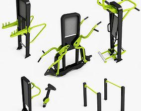 Outdoor gym equipments 3D model