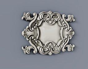 3D printable model Baroque cartouches onlay element 010