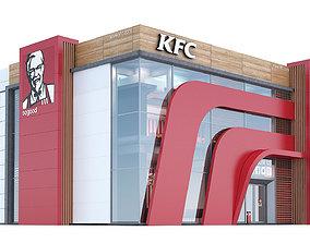 3D kfc restaurant
