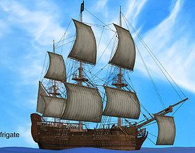 Pirate frigate 3D