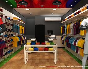 3D Sport Shop Interior Design