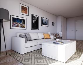 3D asset HQ Modern Studio Apartment