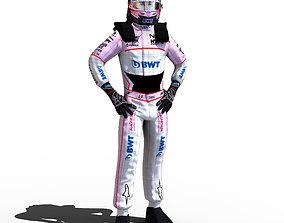 Sergio Perez 2018 3D asset