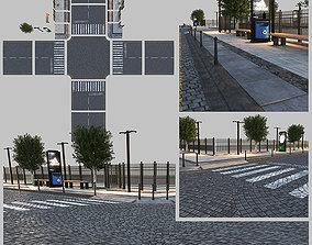 Paving Sidewalk 3 3D model