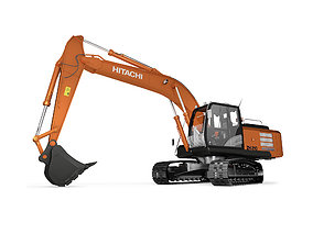 3D model Rigged Hitachi Construction Machinery ZH210 1