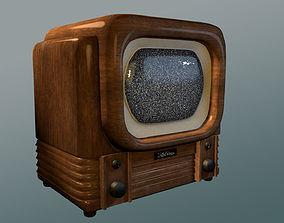 3D model Old Timey 1940s TV