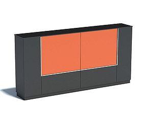 Dark Kitchen Counter 3D