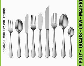 3D model Common Cutlery Set 9 Pieces